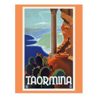 Voyage vintage l'Europe de Taormina Italie Cartes Postales