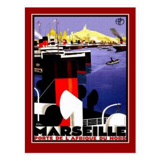 Voyage vintage Marseille de carte postale