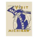 Voyage vintage - Michigan Vacationland Carte Postale