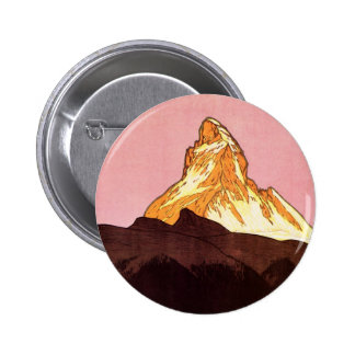 Voyage vintage, montagne de Matterhorn, Suisse Pin's