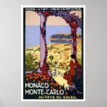 Voyage vintage, Monte Carlo Posters