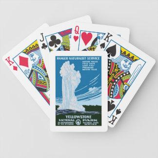 Voyage vintage national des USA Etats-Unis de parc Jeux De Cartes