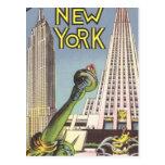 Voyage vintage, points de repère célèbres de New Y Cartes Postales