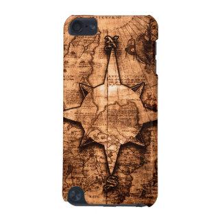 Voyageur antique du monde - rose de carte et de coque iPod touch 5G