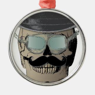 Voyageur de M. Bones Steam Punk Time Ornement Rond Argenté