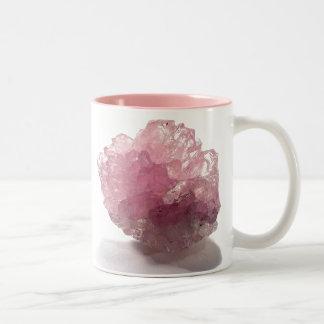 Voyageurs de bonheur de quartz rose tasse 2 couleurs