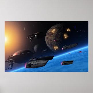 Voyageurs de l'espace poster