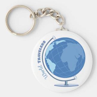 Voyageurs du monde porte-clé rond