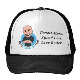 Voyagez davantage. Dépensez moins. Vivez mieux. Casquettes