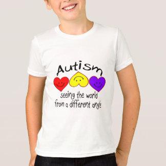 Voyant le monde d'un angle différent (Hrts) T-shirt