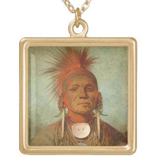 Voyez-non-ty-un, un chaman de l'Iowa, 1844 Pendentif Carré