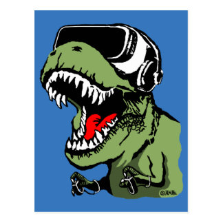 VR T-rex Carte Postale