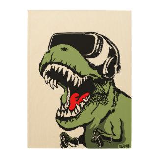 VR T-rex Impression Sur Bois