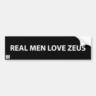 Vrai amour Zeus - autocollant athée d'hommes