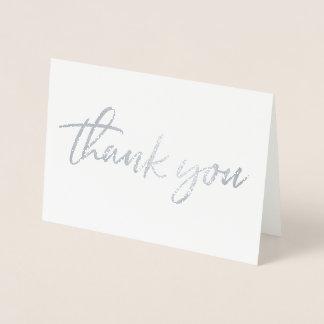 Vrai carte de remerciements d'aluminium de Merci