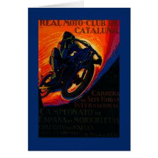 Vrai cru PosterEurope de club de Moto Carte De Vœux