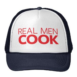 Vrai cuisinier d'hommes casquettes