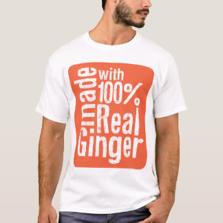 Vrai gingembre de 100% t-shirt