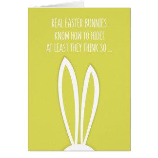 Vrai lapin de Pâques Pâques drôle Carte De Vœux