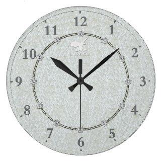 Vrai moderne argenté décoré 1 vente d'horloge grande horloge ronde