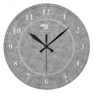 Vrai platine 3 décorés modernes une vente grande horloge ronde