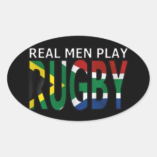Vrai rugby Afrique du Sud de jeu d hommes Autocollants Ovales
