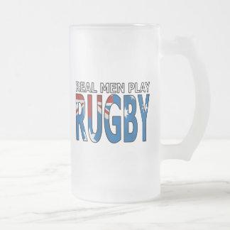 Vrai rugby Australie de jeu d'hommes Frosted Glass Beer Mug