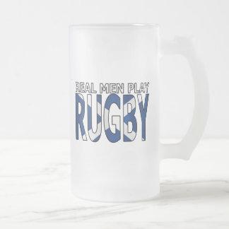 Vrai rugby Ecosse de jeu d'hommes Frosted Glass Beer Mug