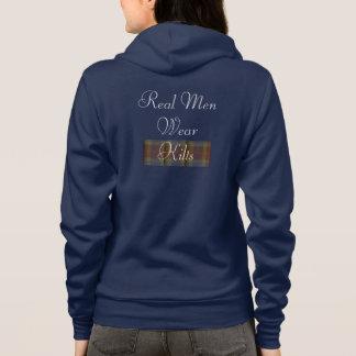 Vrai sweatshirt de kilts de vêtements pour hommes
