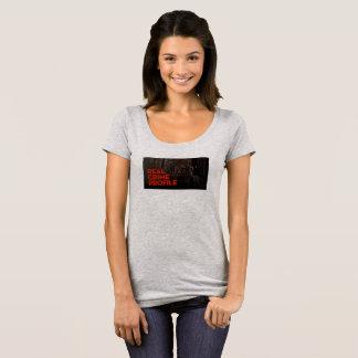 Vrai tee - shirt de cou de scoop de profil de t-shirt