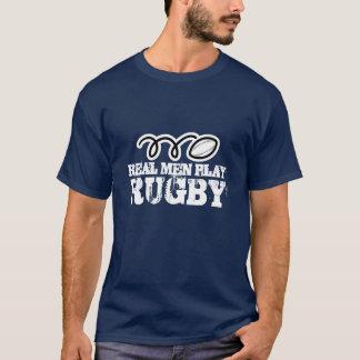 Vraie chemise de rugby de jeu d'hommes t-shirt