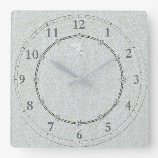 Vraie vente décorée moderne argentée de l'horloge horloge carrée