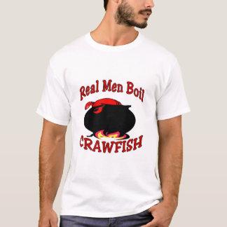 Vraies écrevisses d'ébullition d'hommes t-shirt