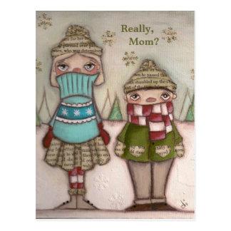 Vraiment, maman - cartes postales