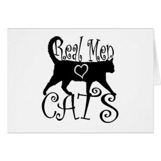 Vrais chats d'amour d'hommes cartes de vœux