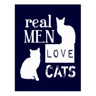 Vrais chats d'amour d'hommes cartes postales