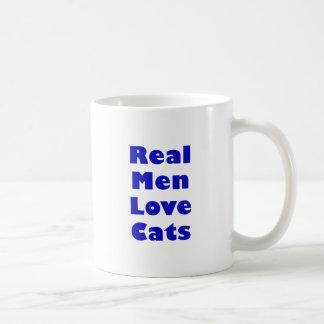 Vrais chats d'amour d'hommes mug blanc