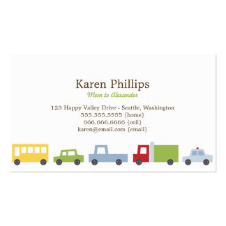 Vroom Vroom cartes de maman de voitures Modèles De Cartes De Visite