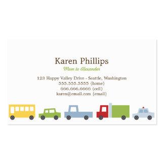 Vroom Vroom cartes de maman de voitures Carte De Visite Standard