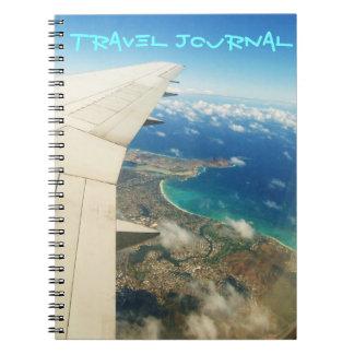 Vue aérienne au-dessus de journal de voyage d'îles