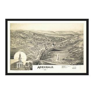 Vue aérienne d'Archbald, Pennsylvanie (1892) Toile