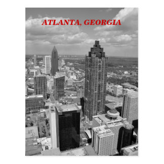 Vue aérienne d'Atlanta, la Géorgie en noir et Cartes Postales