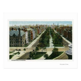 Vue aérienne d'avenue de Commonwealth Carte Postale