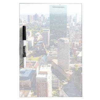 Vue aérienne de Boston 2 Tableaux Effaçables À Sec