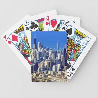 Vue aérienne de Chicago du centre avec le lac Jeux De Cartes