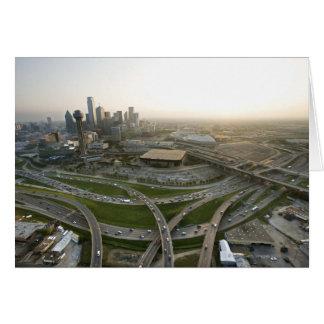Vue aérienne de Dallas du centre, le Texas Carte De Vœux