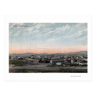 Vue aérienne de la ville 4 carte postale