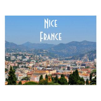 Vue aérienne de la ville de Nice en France Carte Postale