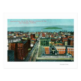 Vue aérienne de la ville du bâtiment d'appel cartes postales