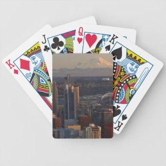 Vue aérienne de l'horizon 2 de ville de Seattle Cartes À Jouer